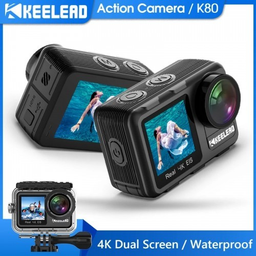 Keelead Action Camera K80 4K Dual